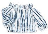 Ralph Lauren Toddler's, Little Girl's & Girl's Dip-Dyed Off-The-Shoulder Linen Top