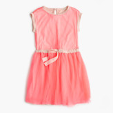 J.Crew Girls' tulle dress with bow