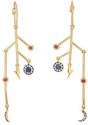 Eye M Women's Night Branch Earrings - Gold
