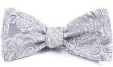 The Tie Bar Silver Designer Paisley Bow Tie