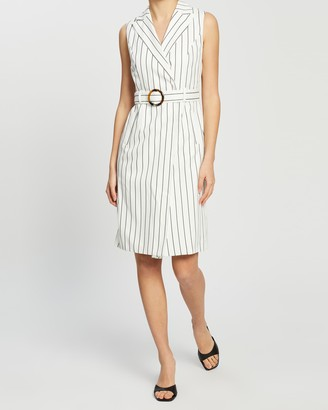 Dorothy Perkins Pinstripe Sleeveless Jacket Dress