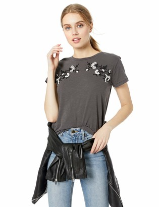 Lucky Brand Women's Embroidered Flower TEE