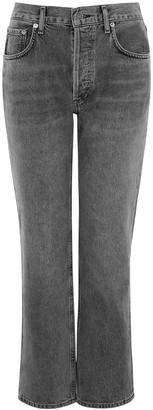AGOLDE Ripley Grey Straight-leg Jeans