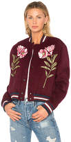 Parker Pacifico Bomber Jacket in Burgundy. - size L (also in M,S,XS)