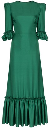 The Vampire's Wife Festival pouf-sleeve maxi dress