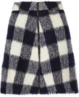 Sea Gingham Knitted Mini Skirt