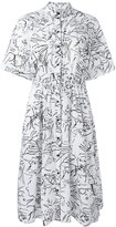 Kenzo Sketches shirt dress - women - Cotton - 36