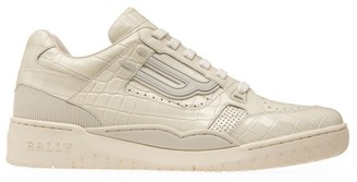 Bally Champion Snakeskin Print Leather Sneakers