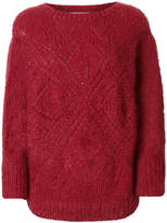Mes Demoiselles lace knit sweater