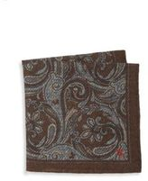 Isaia Paisley Silk Pocket Square
