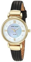 Anne Klein Solar Watch (Black/Gold-Tone) Watches