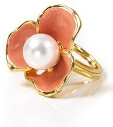 Small Flower Coral Ring