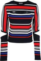 Tommy Hilfiger Cut Out Striped Sweater
