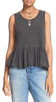 Free People 'Continental' Peplum Tank