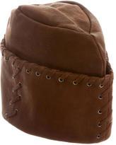 Prada Textured Leather Hat