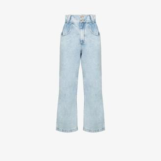 Alessandra Rich Crystal-Wide-Leg Jeans
