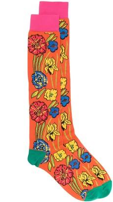 Marni Floral Print Socks
