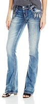 Miss Me Women's Front Feather Embroidery Boot Cut