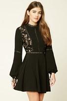 Forever 21 FOREVER 21+ Crochet Overlay Mini Dress