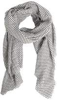 Mango Outlet Polka-dot cotton scarf