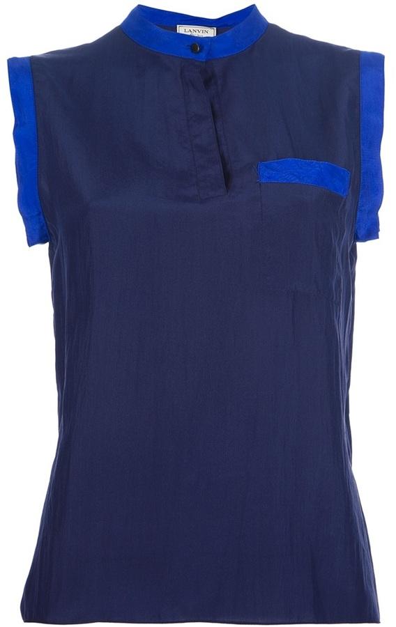 Lanvin contrast trim blouse