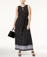 MICHAEL Michael Kors Size Nora Belted Maxi Dress