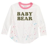 Chaser Toddler Girl's Baby Bear Graphic Tee