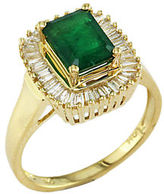 EFFY Brasilica Emerald & Diamond Ring in 14 Kt. Yellow Gold