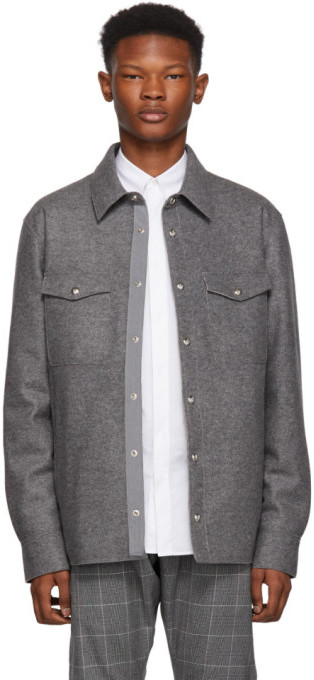 Moncler Grey Rigel Shirt Jacket