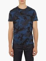 Valentino Blue Camouflage T-Shirt