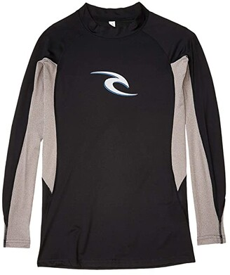 Rip Curl Wave Long Sleeve Rashguard (Black) Men's Swimwear