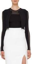 Akris Punto Dot Cutout Sleeve Knit Cardigan