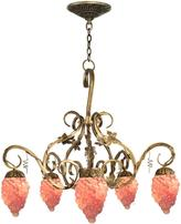 Dale Tiffany Albany 5-Light Antique Brass Hanging Chandelier
