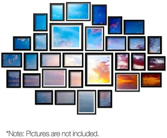 My Plaza 30 PCS Photo Frame Wall Set Black