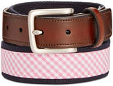 Club Room Men's Plaid Webbing Belt, Only at Macy's
