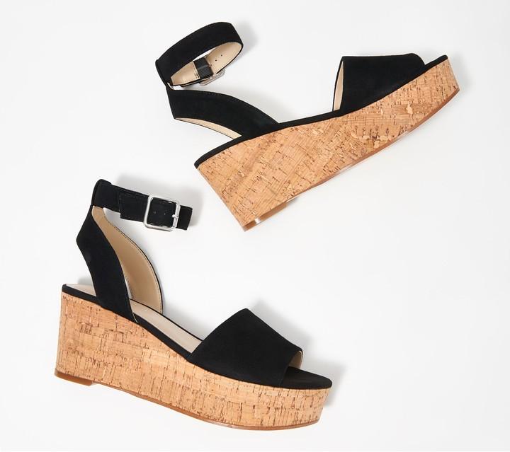 Marc Fisher Leather Wedge Sandal Rillia