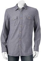 Men's SONOMA Goods for LifeTM Modern-Fit Herringbone Button-Down Shirt