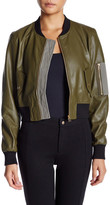 Fate Faux Leather Bomber Jacket