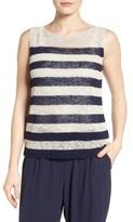 Eileen Fisher Women's Stripe Open Knit Top
