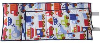 Bacati Transportation Print Toddler Nap Mat in Blue, 100% Cotton Percale with attached pillow, size 20 x 50 inches