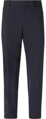 Valentino Slim-Fit Logo-Print Stretch Virgin Wool-Blend Trousers
