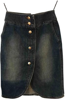 Saint Laurent Navy Denim - Jeans Skirts