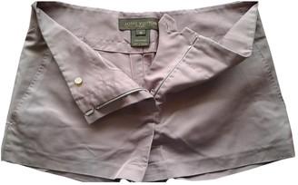Louis Vuitton Purple Silk Shorts