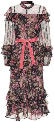 Zimmermann Lucky frilled floral silk midi dress