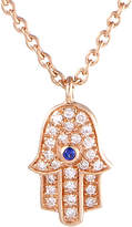 Generic Gemstones 18K Rose Gold Diamond & Sapphire Necklace