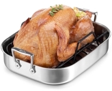 "All-Clad Stainless Steel 14"" Everyday Roaster with Roasting Rack"