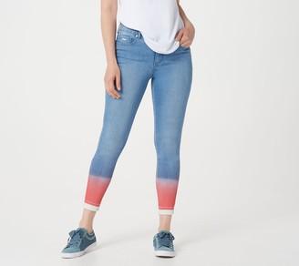 Isaac Mizrahi Live! Petite TRUE DENIM Dip-Dye Ombre Ankle Jeans