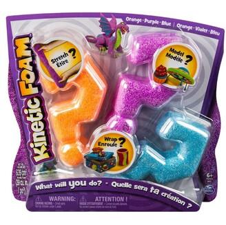Kinetic Foam Moldable Foam Blue Purple Orange 3-Pack