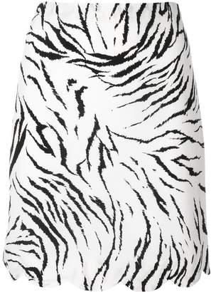 Versace Pre-Owned zebra print mini skirt