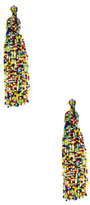 Kenneth Jay Lane Seed Bead Tassel Statement Earrings
